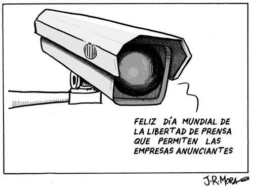 Cartoon: Libertad de prensa (medium) by jrmora tagged libertad,prensa,periodismo,anunciantes