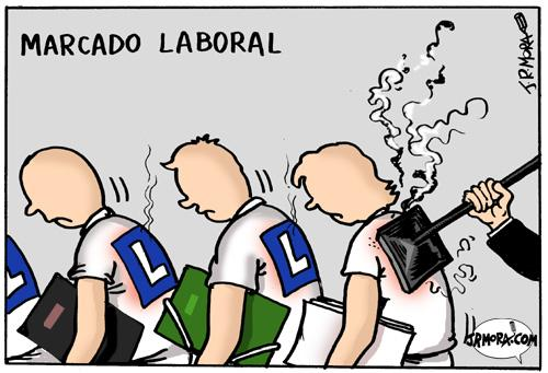 Cartoon: Trabajo (medium) by jrmora tagged empleo,trabajo,laboral,mercado,