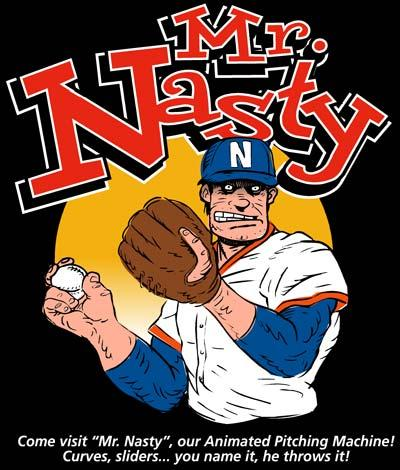 Cartoon: Mr. Nasty the Pitching Machine (medium) by monsterzero tagged pitcher,baseball,
