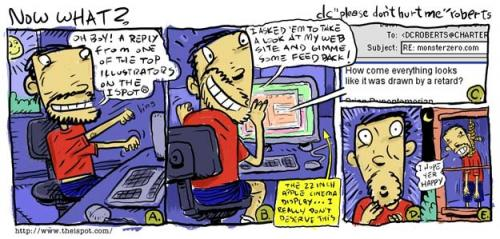 Cartoon: Now What? (medium) by monsterzero tagged freelance,suicide,websites,