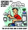 Cartoon: simple pleasures (small) by monsterzero tagged toilet,newspaper,happy,