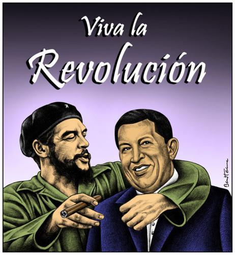 Cartoon: Che Guevara and Hugo Chavez (medium) by BenHeine tagged ernestocheguevara,hugochavez,legacy,benheine,comandante,socialism,revolution,redstar,communism,cuba,argentina,venezuela,friendship,love,latinamerica,southamerica,guerrilla,guerrillero,icon,richardgott,rorycarroll,lolaalmudevar,