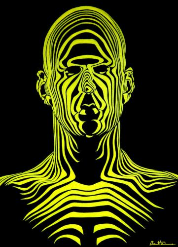 Cartoon: Find Your Face (medium) by BenHeine tagged thesimpleline,laurariding,benheine,painting,visagetelescopique,lines,abstract,future,man,face,lignes,rides,cameleon,mind,splendidsight,yellow,universe,nature,quiet,silence,riddle,ride,bones,outside,inside,head,tete,visage,facies,time,excess,