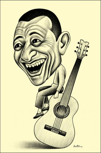 Cartoon: Henri Salvador (medium) by BenHeine tagged henrisalvador,singer,musician,bossanova,star,laugh,guitar,salvador,instrument,alive,death,durability,crooner,elegance,old,age,bow,play,chanteur,sadness,happiness,alafrancaise,jazz,humour,portrait,caricature,song,france,brazil,riodejaneiro,benh