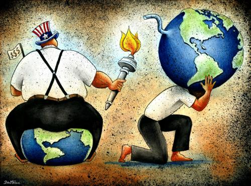 Cartoon: What Next ? (medium) by BenHeine tagged recession,ben,heine,usa,bomb,earth,question,flambeau,torch,fat,worker,greg,peel,george,bush,legacy,administration,barack,obama,g20,g7,europe,marxism,fn,arena,capitalism,eu,us,growth,terrorism,washington,uncle,sam,what,next,feu,pyromane,firestarter,sit,dow