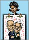 Cartoon: Puppets For Peace (small) by BenHeine tagged georgewbush,annapolisconference,arabnews,benheine,cartoons,condoleezarice,ehudolmert,israel,mahmoudabbas,middleeast,negotiations,palestine,peace,puppets,marionnette,heart,coeur,love,usa,jeu,game,hypocrisy,play,
