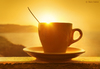 Cartoon: Wake Up! (small) by BenHeine tagged cup tasse sunrise sunset light ben heine benheine wake up debout morning matin soleil coffee tea cafe orange soft yellow jaune seaside waterscape photography art samsungnx10 theartistery greece santorini island horizon