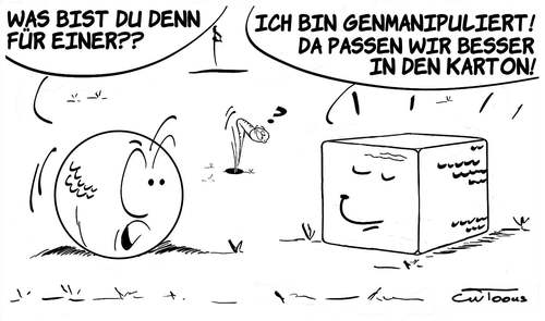 Cartoon: Ohne Titel (medium) by cwtoons tagged sport,golf,ball,wurm