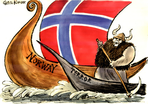 Image result for cartoon on norway