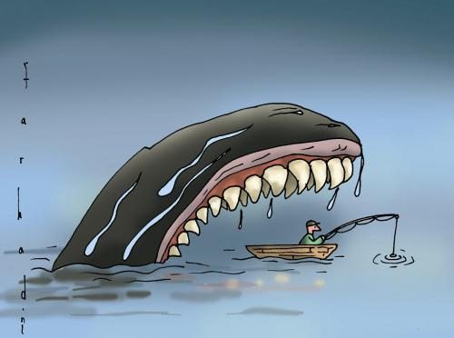 cartoon fishing pics. Cartoon: Fishing (medium) by