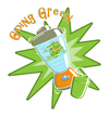 Cartoon: Going Green (small) by SuperSillyStudios tagged grog,blender,going,green,glass,drink,humor,environmental,environment,amphibian