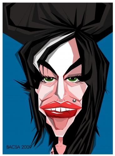 Cartoon: Amy Winehouse (medium) by bacsa tagged amy,winehouse