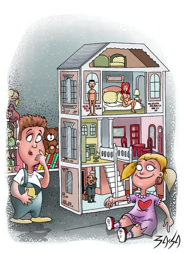 dollhouse By bacsa | Philosophy Cartoon | TOONPOOL