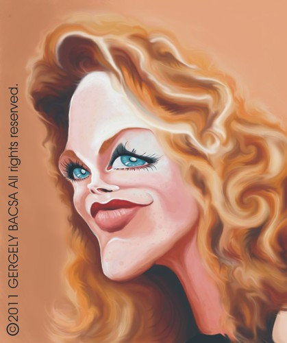 Cartoon: Michelle Pfeiffer (medium) by bacsa tagged michelle,pfeiffer