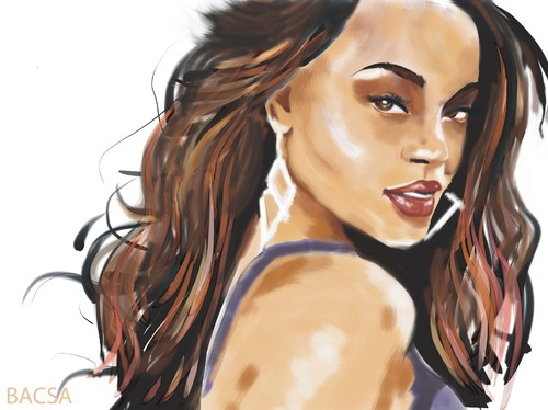 Cartoon: Rihanna (medium) by bacsa tagged rihanna