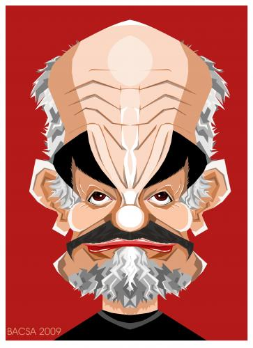 Cartoon: Sean Connery (medium) by bacsa tagged sean,connery