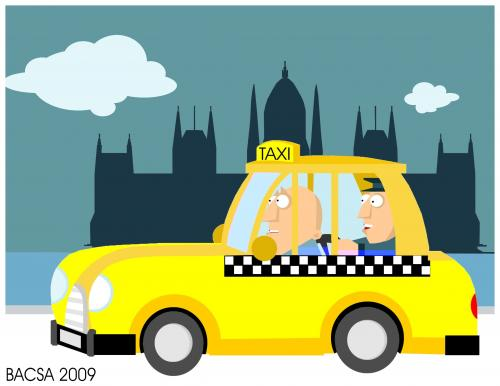 Cartoon: Security Taxi (medium) by bacsa tagged security,taxi