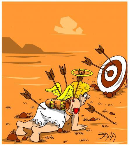 Cartoon: unlucky angel (medium) by bacsa tagged unlucky,angel