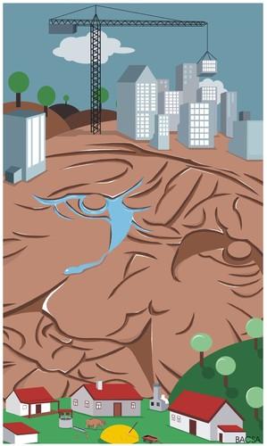 Urbanization By bacsa | Philosophy Cartoon | TOONPOOL
