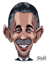 Cartoon: Barack Obama (small) by bacsa tagged obama