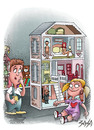Cartoon: dollhouse (small) by bacsa tagged dollhouse