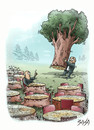 Cartoon: Enviroment (small) by bacsa tagged enviroment