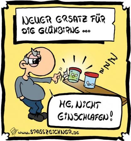 Cartoon: Glühbirnenalternative (medium) by Clemens tagged glühbirne,ökologie,glühbirnenverbot
