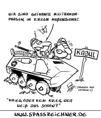 Cartoon: Kriegskomparsen (medium) by Clemens tagged karikatur,krieg,kabul
