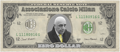 Cartoon: Galliani Banknote (medium) by omomani tagged ac,milan,galliani