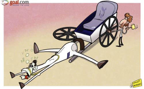 Cartoon: Villas-Boas at a loss (medium) by omomani tagged gareth,bale,tottenham,villas,boas