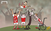 Cartoon: Alexis steps in for Giroud (small) by omomani tagged arsenal,champions,league,jack,wilshere,olivier,giroud,oxlade,chamberlain,sanchez,wenger