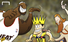 Cartoon: All hail King James! (small) by omomani tagged colombia,james,rodriguez,lebron,world,cup,2014