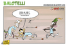 Cartoon: Balotelli the Robin Hood (small) by omomani tagged mario,balotelli,manchester,city,tevez,premier,league,italy,robin,hood