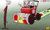 Cartoon: Bayern steamroller sorry Gunners (small) by omomani tagged arsenal,bayern,munich,champions,league,per,mertesacker,philipp,lahm,ribery,thomas,vermaelen,toni,kroos,wenger,wojciech,szczesny