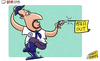 Cartoon: Benitez feeling Blue (small) by omomani tagged rafael,benitez,chelsea,premier,league,cowboy