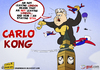 Cartoon: Carlo Kong (small) by omomani tagged ancelotti,big,ben,italy,england,premier,league,king,kong