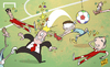 Cartoon: Casillas hurting Spain (small) by omomani tagged casillas,del,bosque,spain