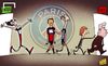 Cartoon: Cavani signs on despite PSG exod (small) by omomani tagged ancelotti,cavani,ibrahimovic,leonardo,paris,saint,germain,thiago,silva