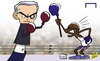 Cartoon: Etoo hits back at puppet Mou (small) by omomani tagged chelsea,etoo,mourinho