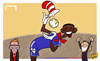 Cartoon: Hat-trick hero Etoo (small) by omomani tagged chelsea,etoo,manchester,united,mourinho,moyes,premier,league