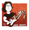 Cartoon: Jack White (small) by omomani tagged jack,white,the,dead,weather,stripes,raconteurs,usa,rock,roll,music