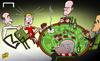 Cartoon: Kroos warned not to play poker (small) by omomani tagged bayern,munich,guardiola,hoeness,matthias,sammer,mehmet,scholl,toni,kroos