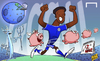 Cartoon: Mikel scores for Chelsea (small) by omomani tagged chelsea,jon,obi,mikel,premier,league