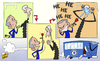 Cartoon: Mourinho and Wenger set to clash (small) by omomani tagged chelsea,mourinho,premier,league,wenger