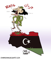 Cartoon: Of Mice and Gaddy (small) by omomani tagged gaddafi,rats,libya