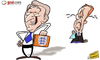Cartoon: Roy Hodgson sneaks up on Redknap (small) by omomani tagged england,redknapp,roy,hodgson