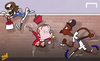 Cartoon: Scholes orders Welbeck (small) by omomani tagged danny,wellbeck,england,italy,pirlo,scholes,world,cup,2014