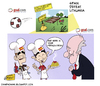 Cartoon: Spain and the potato field (small) by omomani tagged xavi,casillas,del,bosque,spain,real,madird,barcelona,potato,lithuania