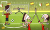 Cartoon: Spain penalty prowess (small) by omomani tagged buffon,confederations,cup,iniesta,italy,jesus,navas,spain,xavi