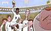 Cartoon: Sturridge to lead England (small) by omomani tagged adam,lallana,cahill,daniel,sturridge,england,jordan,henderson,leighton,baines,rooney,steven,gerrard,world,cup,2014